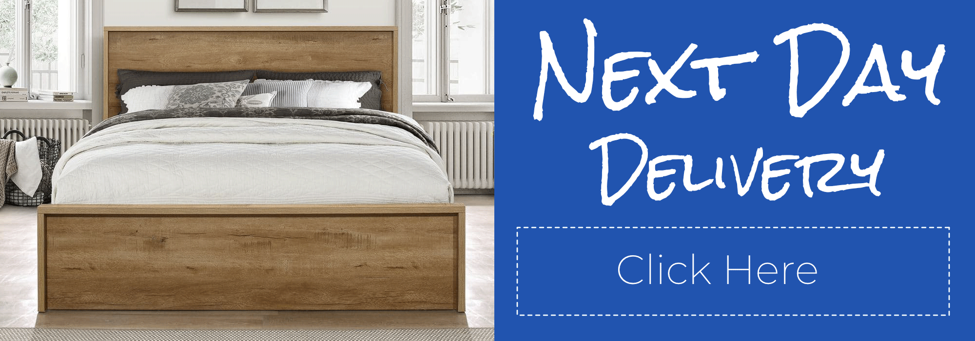 Small Double Wooden Bedsteads